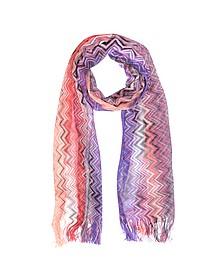 Langer gewobener Schal mit Zig-Zag Muster aus Viskose - Missoni