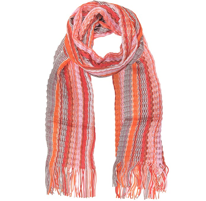 Viscose and Cotton Striped Long Scarf - Missoni