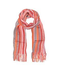 Langer Schal mit Streifenmuster aus Viskose und Baumwolle - Missoni