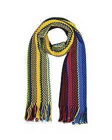 Waves Wool Blend Fringed Stole - Missoni