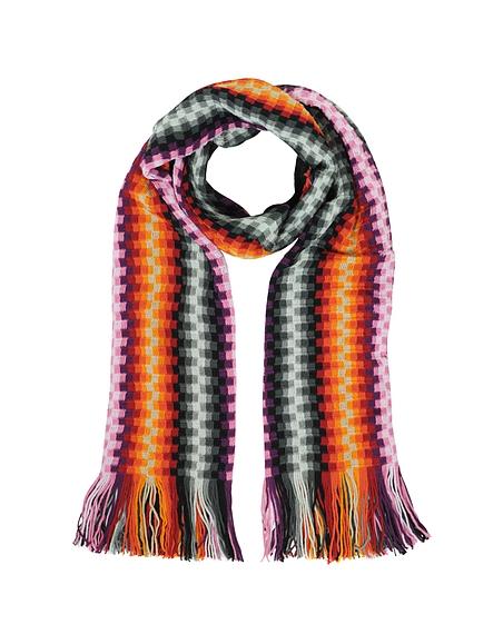 Foto Missoni Stola in Misto Lana con Frange Multicolor Sciarpe