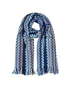 Zig Zag Viscose and Wool Lurex Long Scarf - Missoni