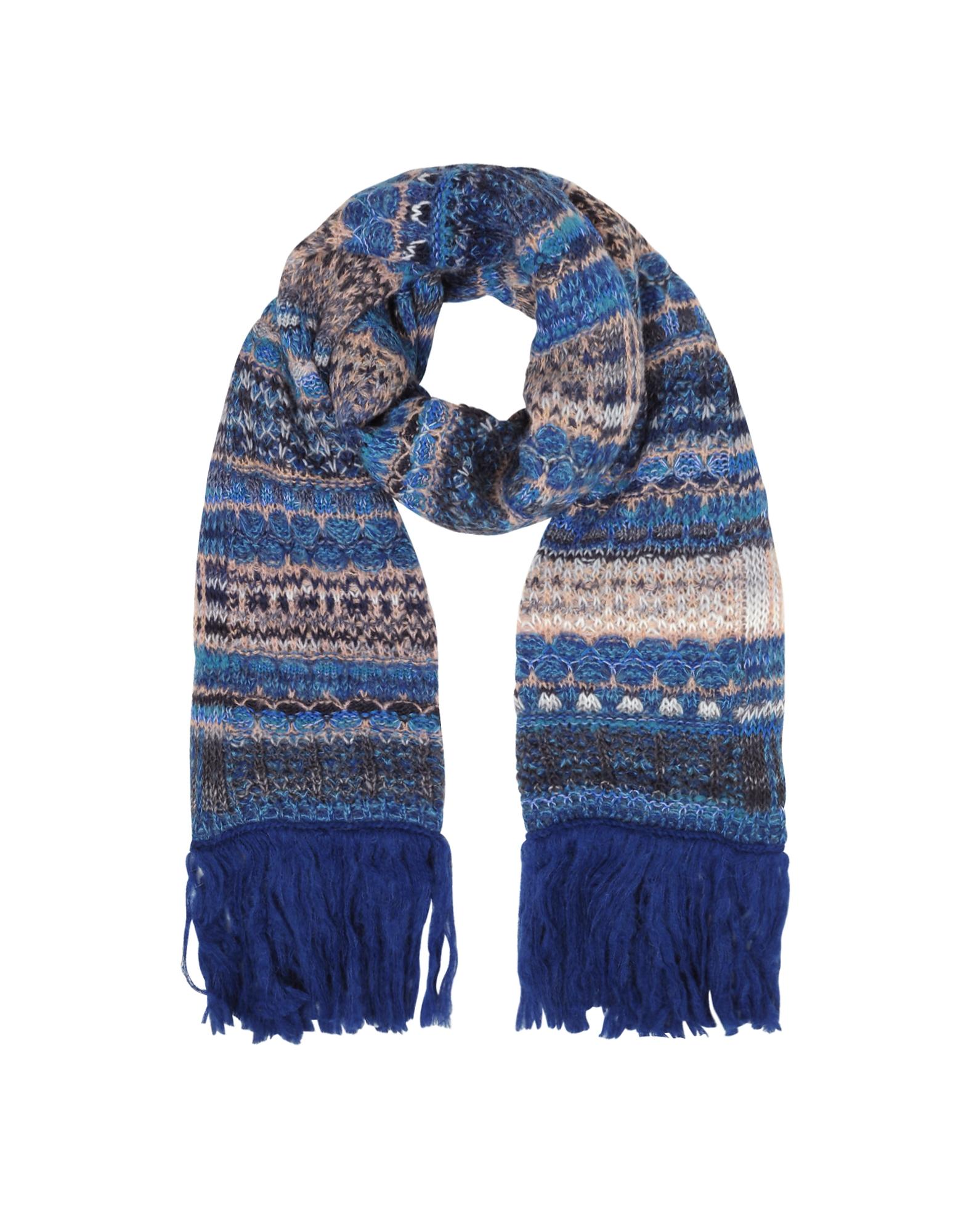 Wool Blend Knit Women's Long Scarf w/Maxi Fringes