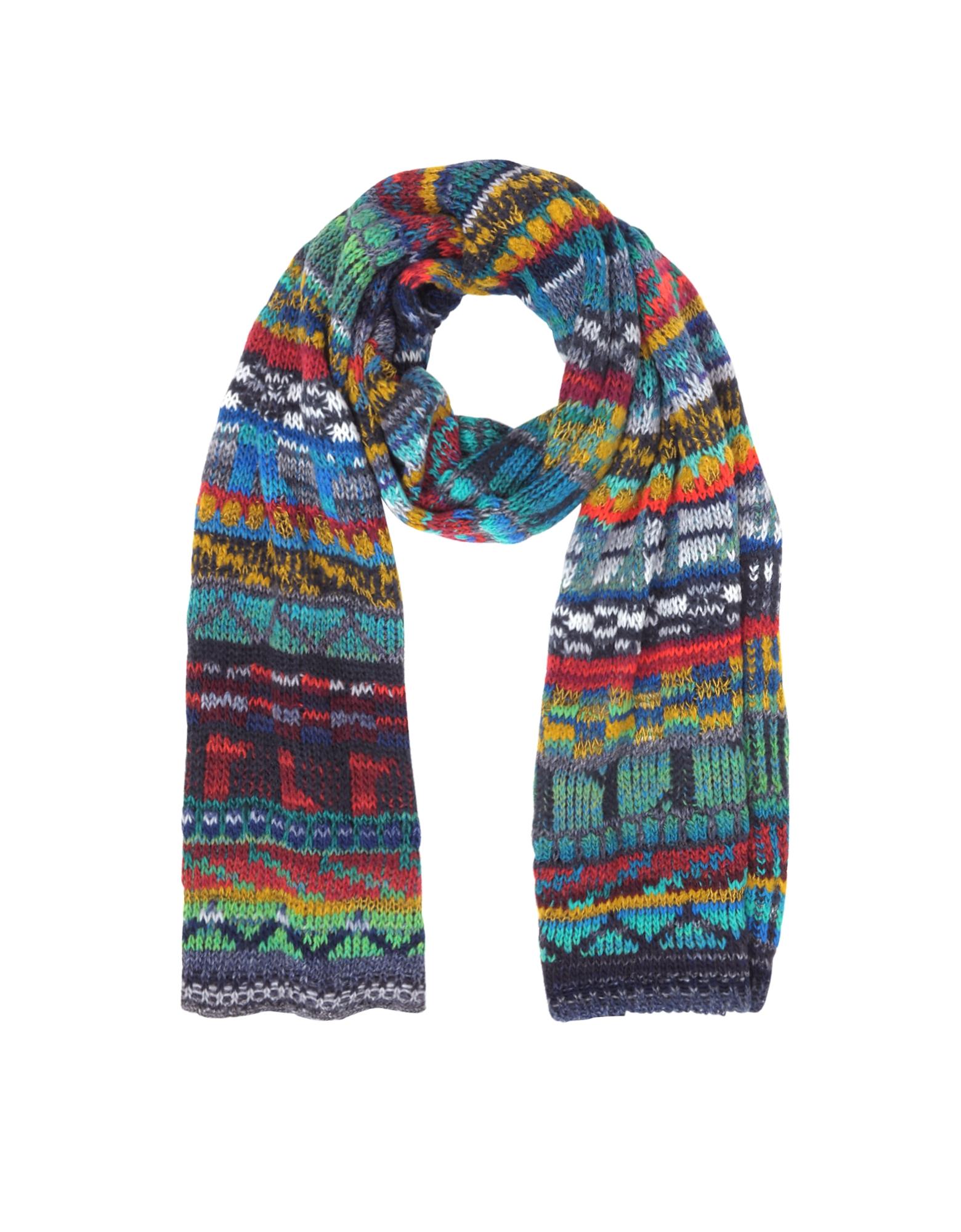 Wool Blend Knit Men's Long Scarf