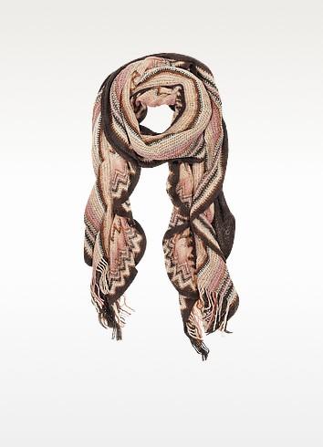 Multicolor Woven Wool Shawl - Missoni
