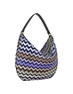 Woven Fabric and Leather Hobo Bag - Missoni