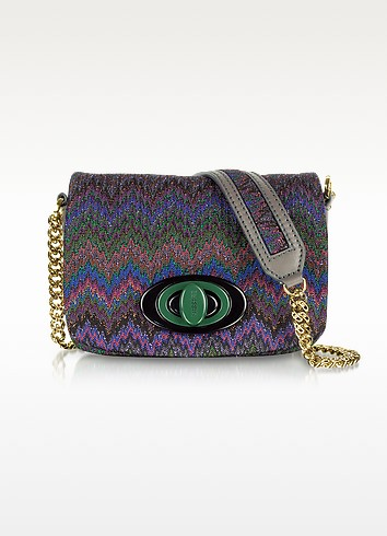 Fabric and Leather Shoulder Bag - Missoni
