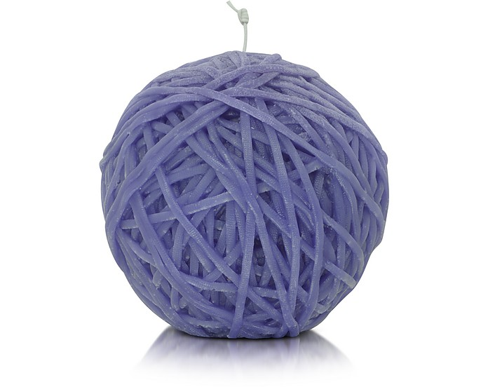 Home - Gomitolo Purple Wax Candle - Missoni