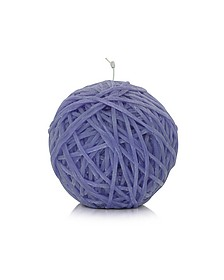 Home - Gomitolo Purple Wax Candle - Missoni