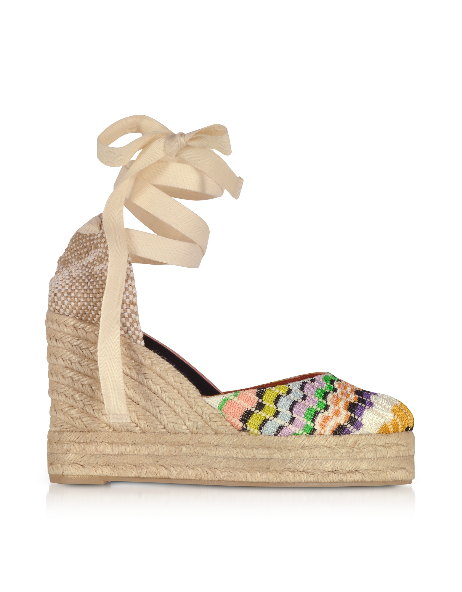 X Castañer – Carina Multicolor Canvas Wedge Espadrilles