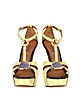 Gold Leather Platform Sandal - Missoni