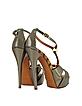 Metallic Taupe Leather Sandal - Missoni