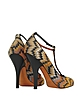 Orange and Black Fabric Pump - Missoni