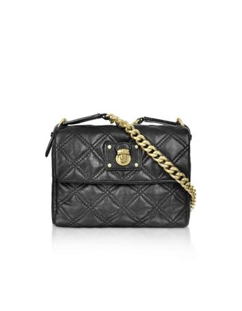 Marc Jacobs The Debbie Small Black Quilted Leather Crossbody Bag