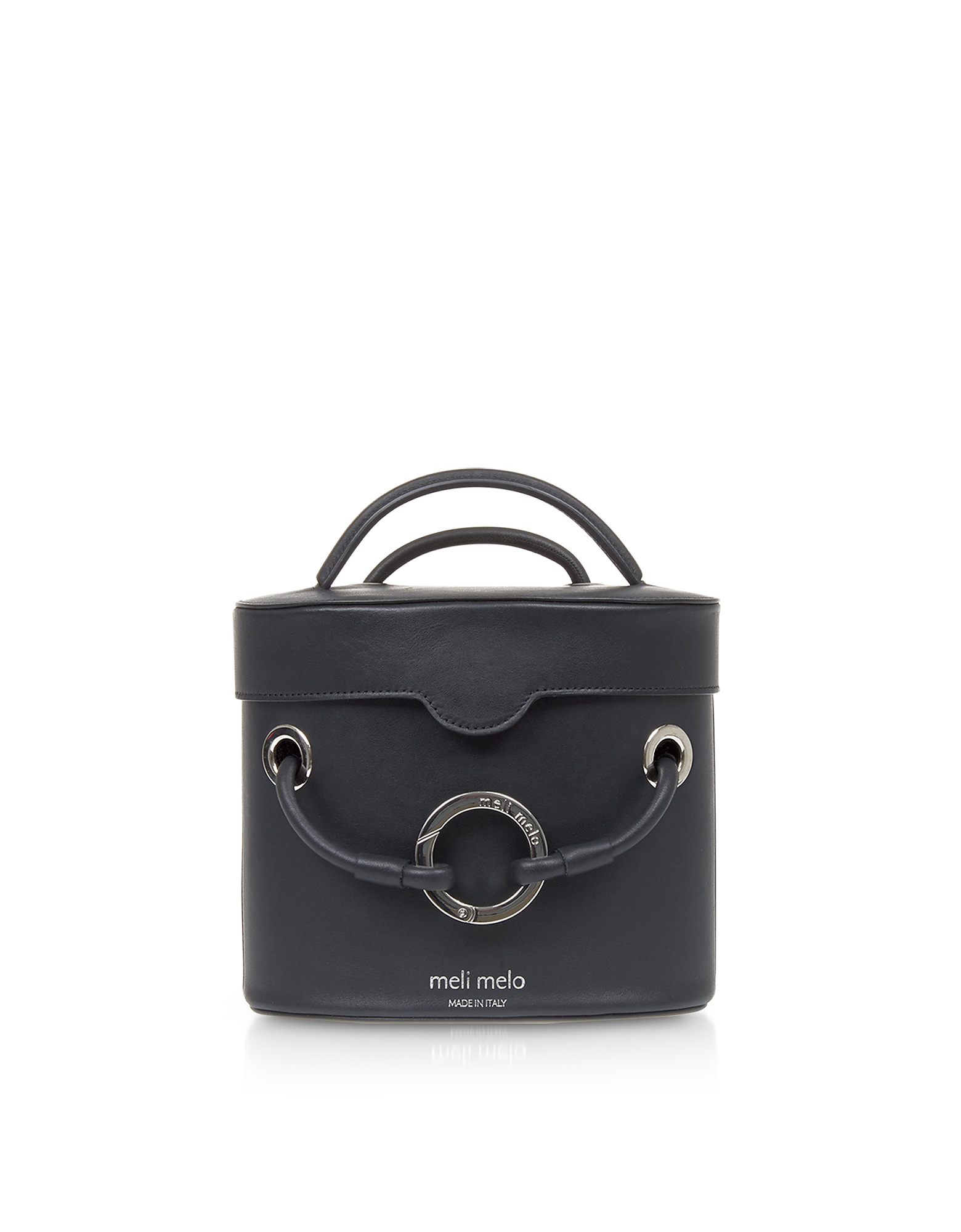 Meli Melo Handbags, Nancy Black Leather Cylindrical Bag