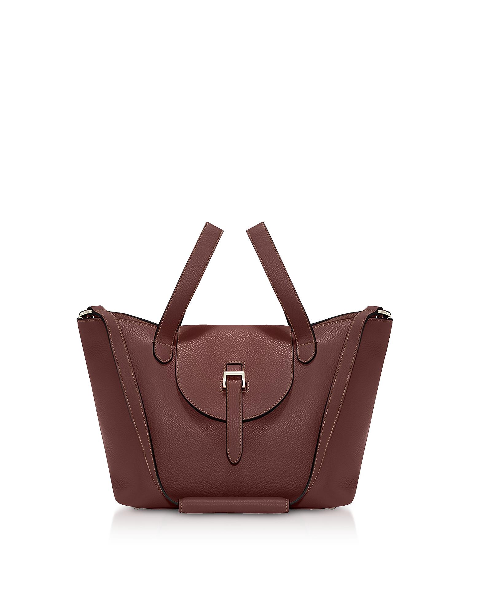 MELI MELO Argan Thela Medium Tote Bag in Dark Brown