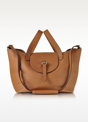 Tan Coimbra Leather Thela Medium Tote Bag - Meli Melo