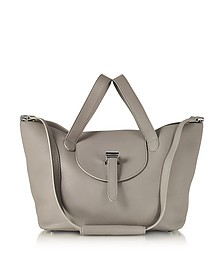 Taupe Coimbra Leather Thela Medium Tote Bag - Meli Melo