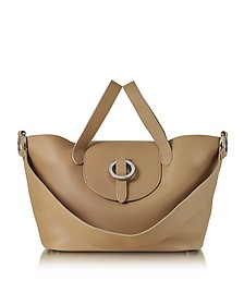 Light Tan Rose Thela Medium Tote Bag  - Meli Melo
