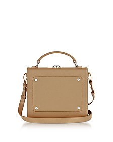 Light Tan Leather Art Bag - Meli Melo
