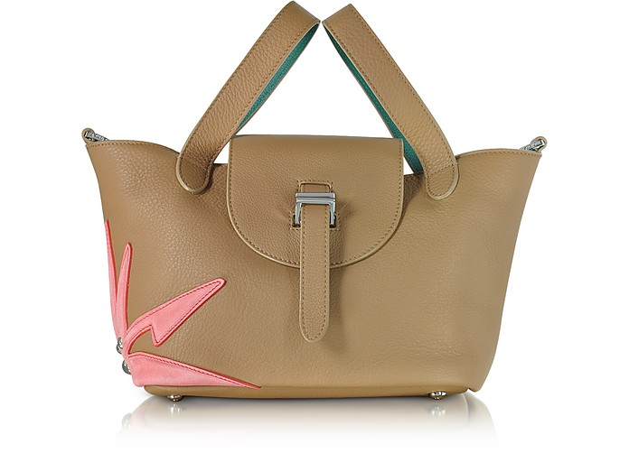 Light Tan Wonderplant Thela Mini Cross Body Bag  - Meli Melo