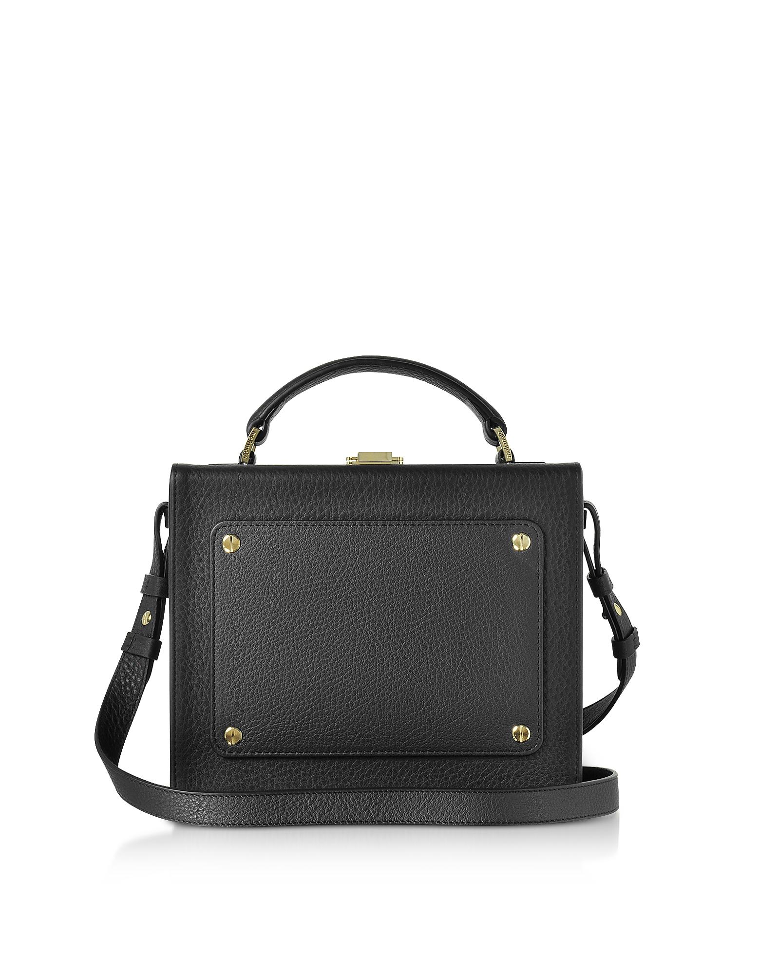 Black Leather Art Bag