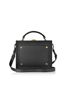 Black Leather Art Bag - Meli Melo