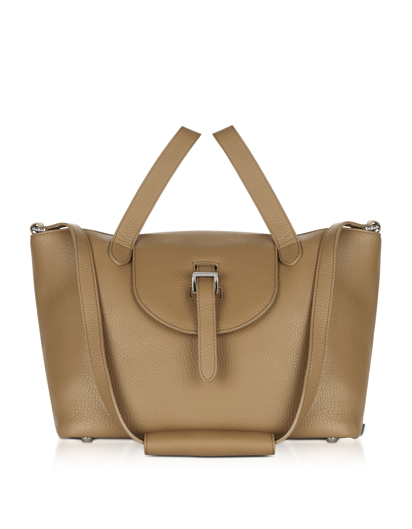 Meli Melo Handbags, Light Tan Leather Thela Medium Tote Bag