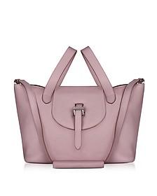 Mauve Leather Thela Medium Tote Bag - Meli Melo