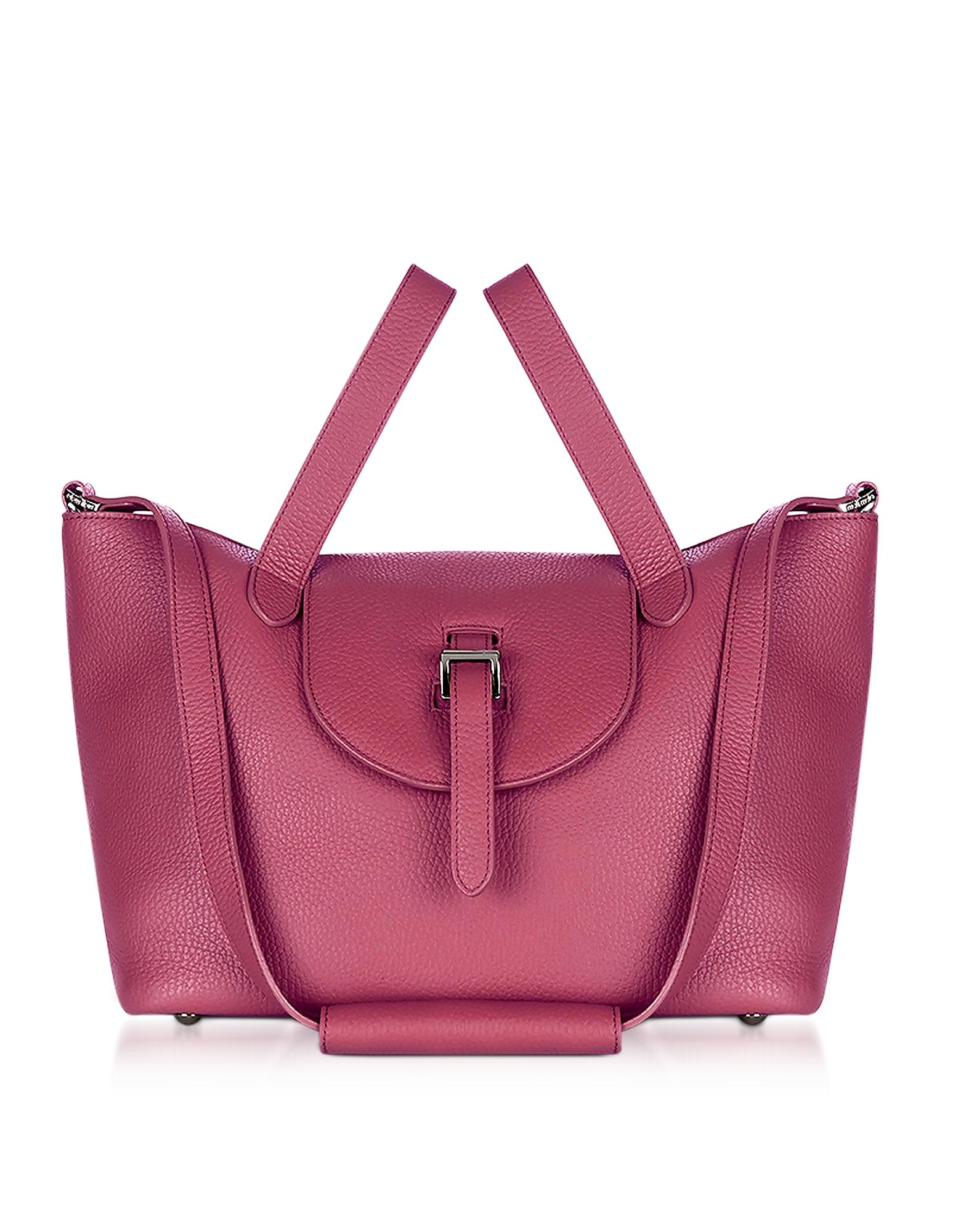 Meli Melo Handbags, Bordeaux Leather Thela Medium Tote Bag