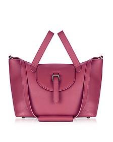 Bordeaux Leather Thela Medium Tote Bag - Meli Melo