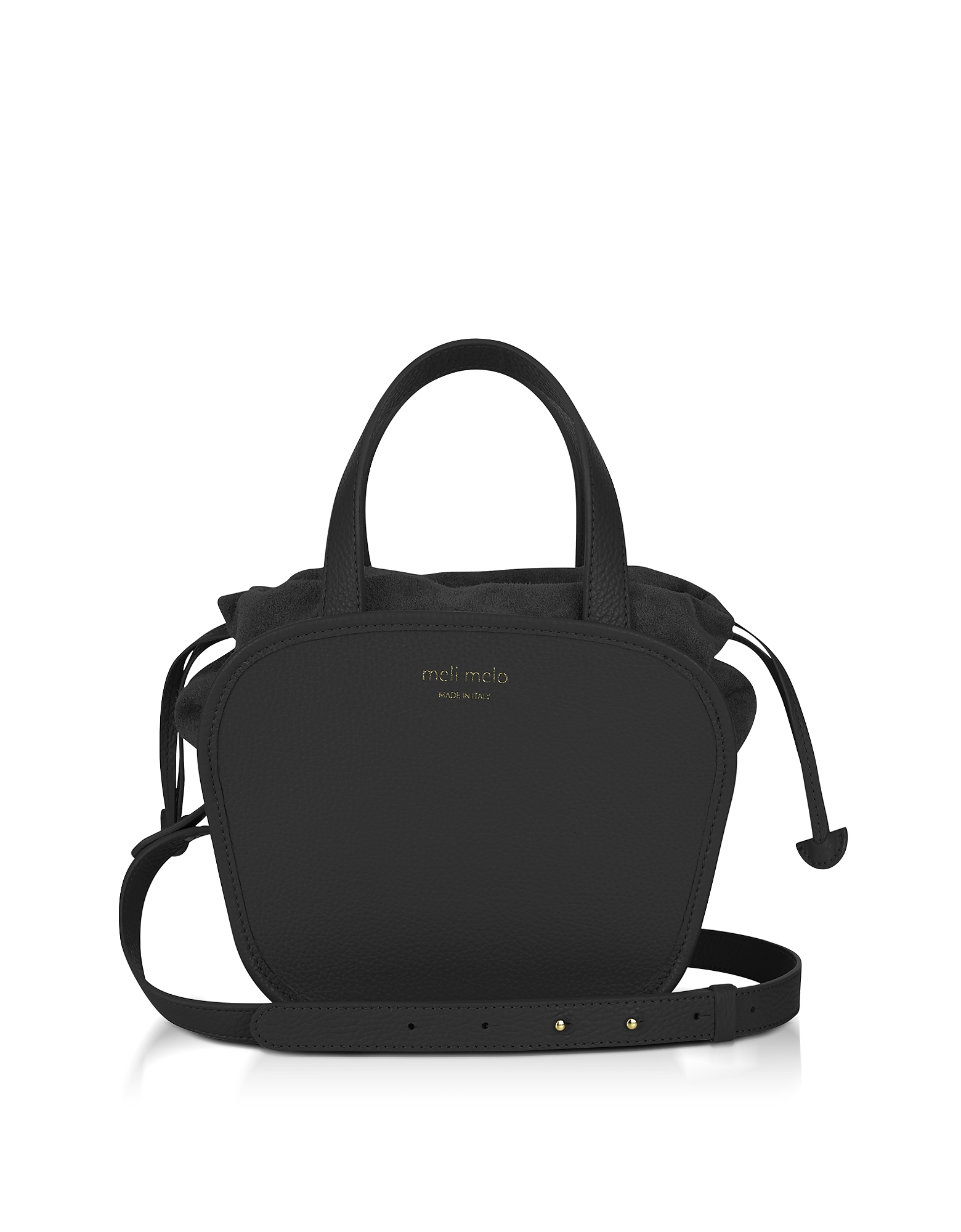 Meli Melo Handbags, Rosetta Black Leather Crossbody Bag