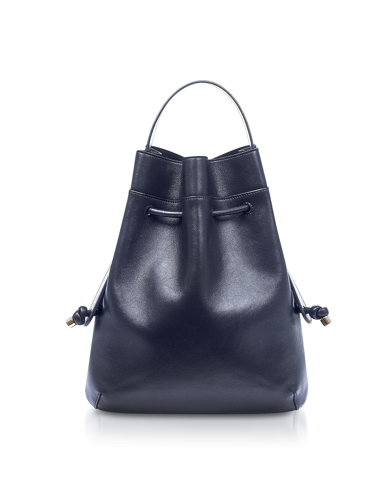 Image of Meli Melo Designer Handbags, Briony Regal Blue Nappa Leather Backpack