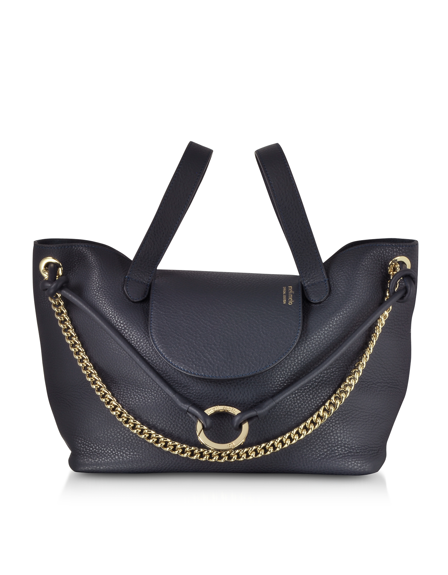 Image of Meli Melo Designer Handbags, Regal Blue Linked Thela Medium Tote Bag