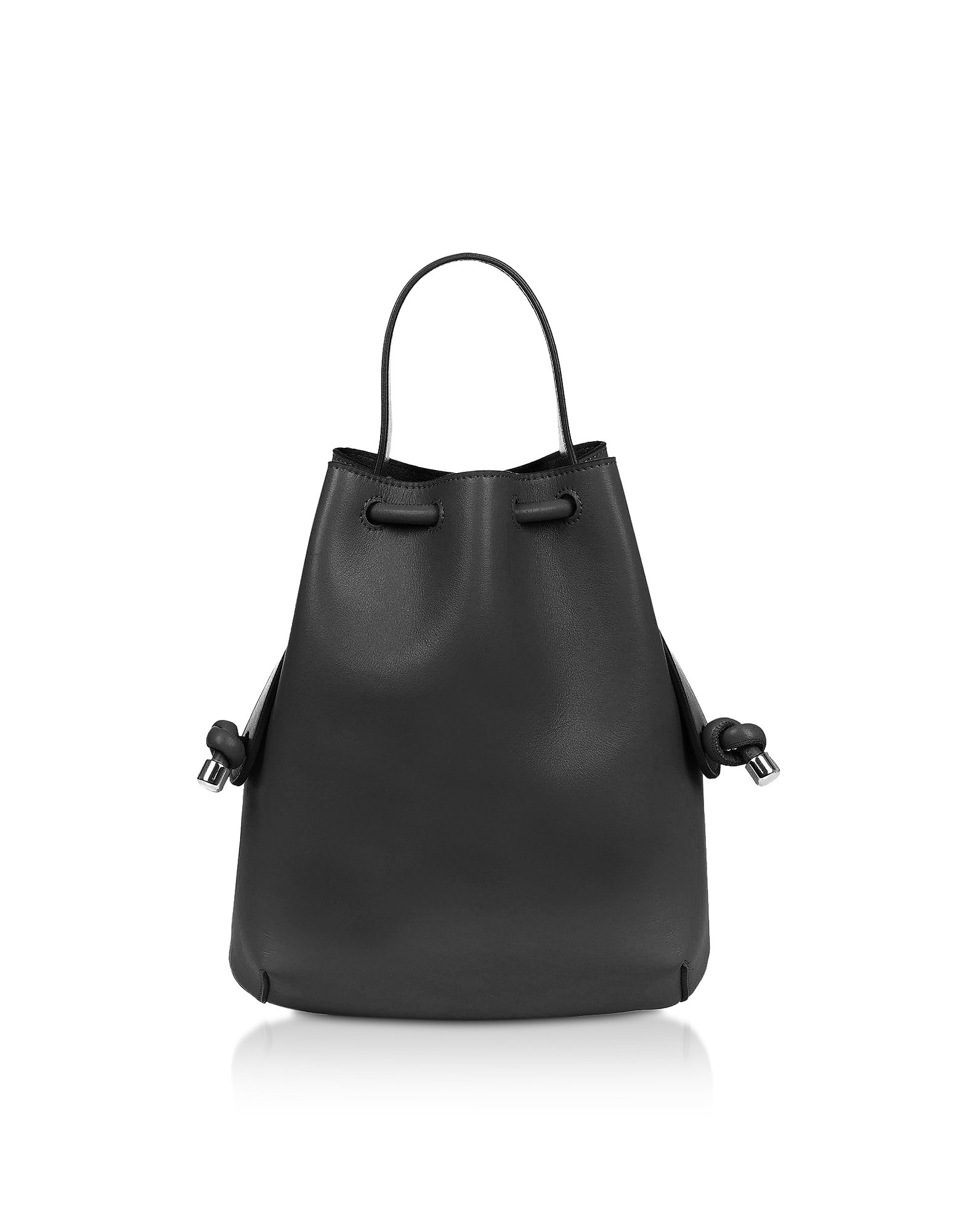 Meli Melo Designer Handbags, Black Nappa Briony Mini Backpack