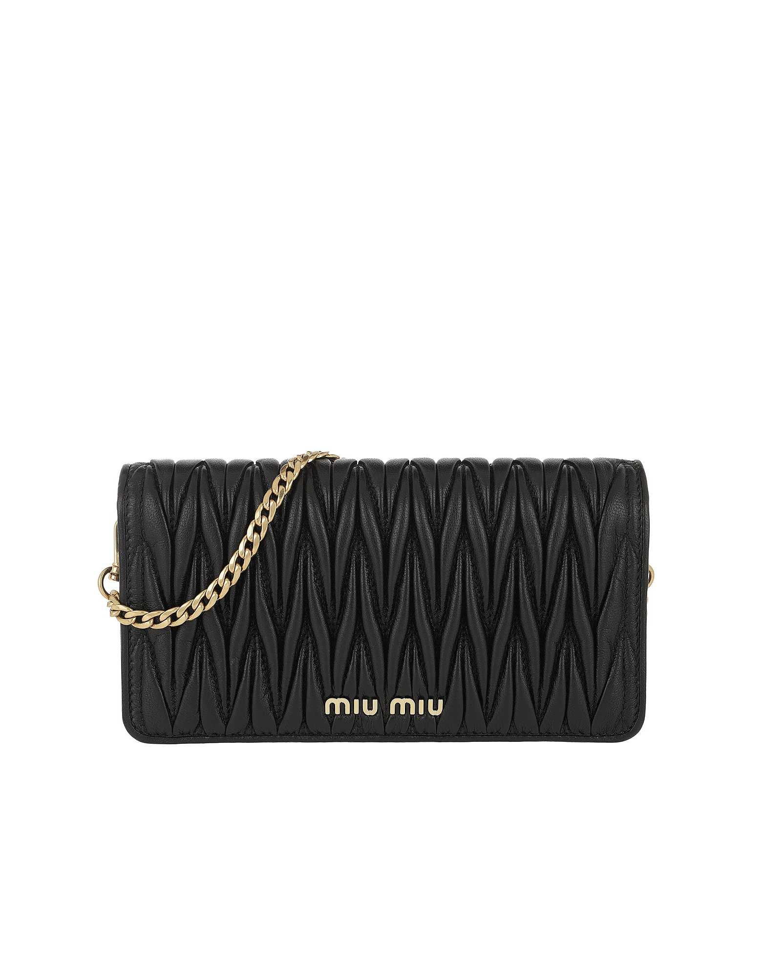 Miu Miu Handbags, Logo Wallet on Chain Black