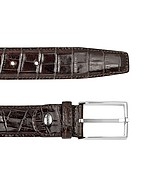 Lux-ID 208184 Men's Brown Croco Stamped Leather Belt