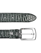 Lux-ID 208412 Men's Gray Croco Stamped Patent Leather Belt