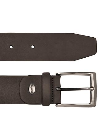 Manieri - Men's Dark Brown Nubuk Belt