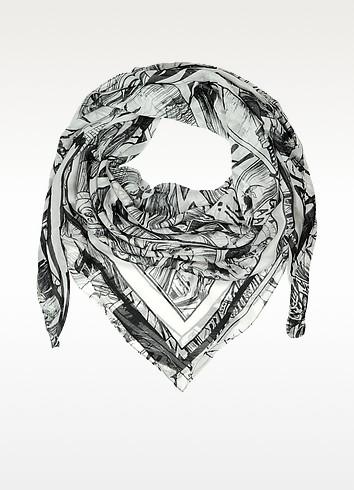 Manga Print Modal Wrap - McQ Alexander McQueen