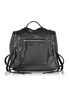 Black Leather Loveless Convertible Box Bag - McQ Alexander McQueen