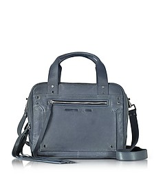 Denim Blue Leather Loveless Medium Duffle Bag - McQ Alexander McQueen