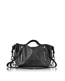 Black Leather Loveless Mini Hobo  - McQ Alexander McQueen