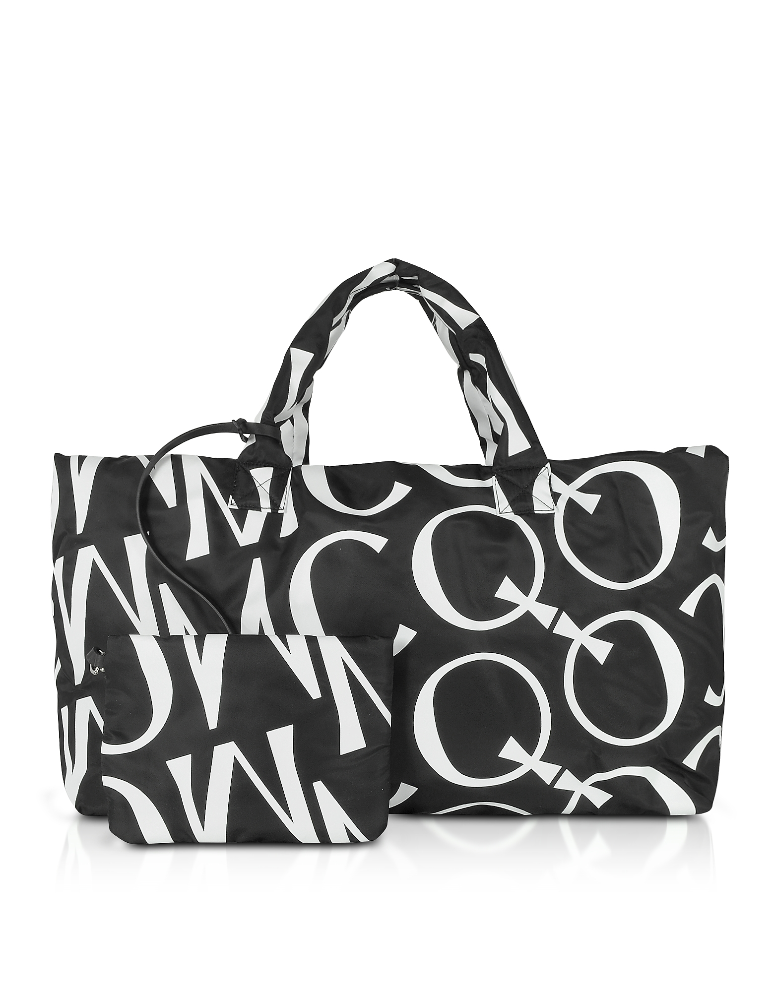 McQ Alexander McQueen Designer Handbags, Inside Out Black & White Signature Tote Bag