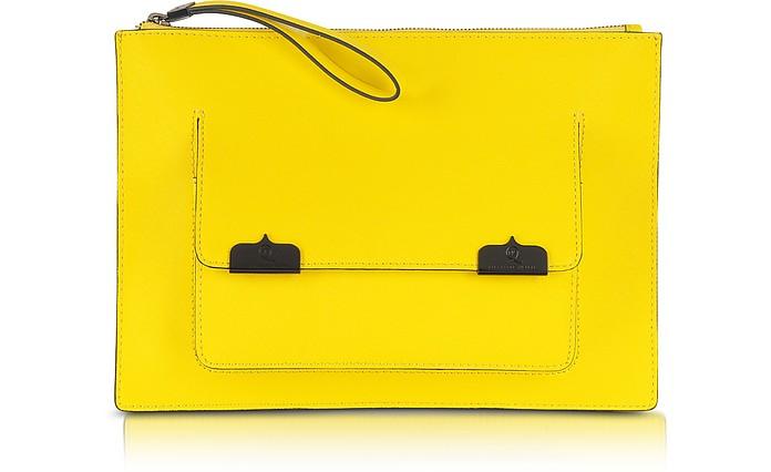 Saffiano Leather Pocket Case Clutch - McQ Alexander McQueen