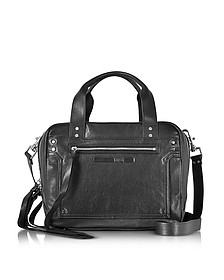 Black Studded Leather Loveless Medium Duffle Bag - McQ Alexander McQueen