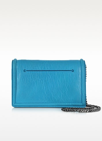 Simple Fold Bubble Leather Clutch w/Chain Strap - McQ Alexander McQueen