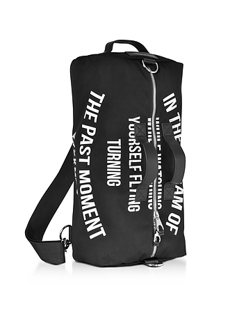 Black Canvas Gym Bag