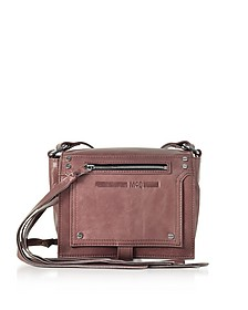 Dirty Pink Waxed Leather Mini Crossbody Bag - McQ Alexander McQueen