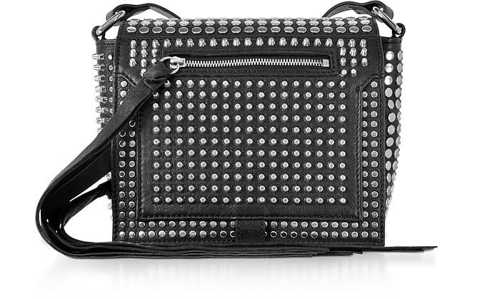 Mcq By Alexander Mcqueen Black Studded Leather Mini Crossbody Bag